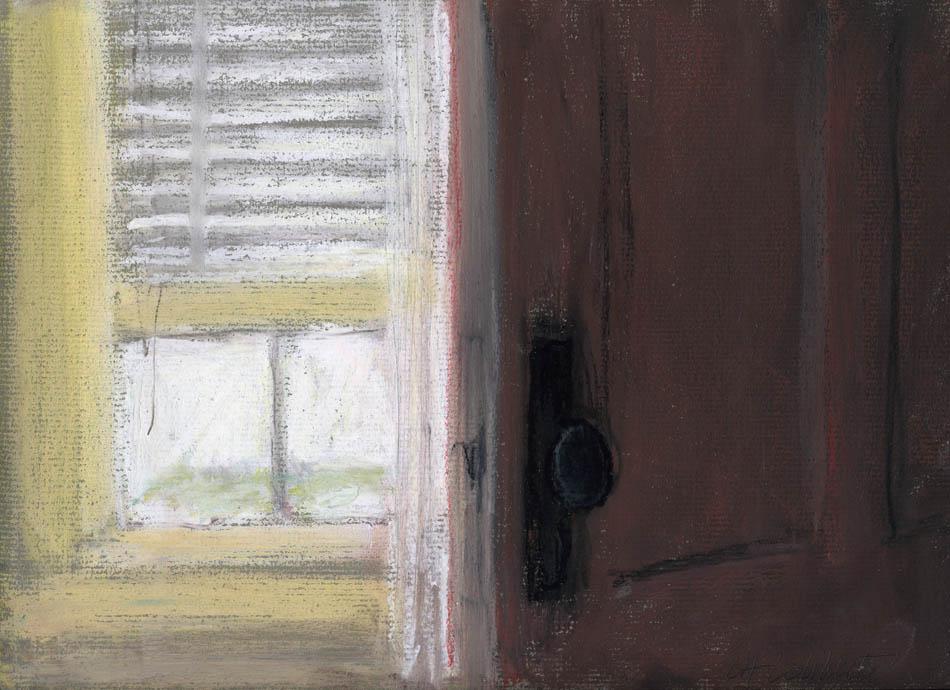 Porte ouverte dans la grande chambre